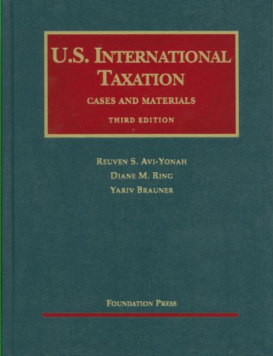 U. S. International Taxation  3rd 2011 (Revised) edition cover