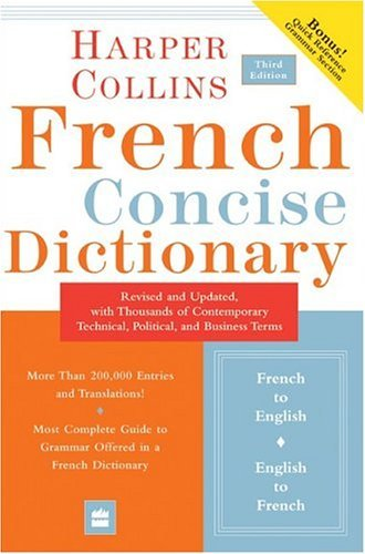 French Concise Dictionary  3rd 2004 edition cover