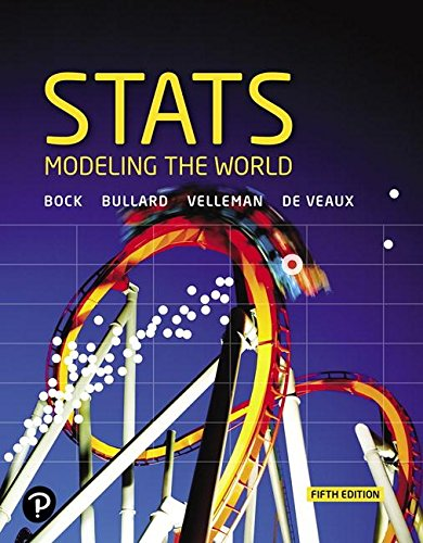 Stats Modeling the World 5th 2019 9780134685762 Front Cover