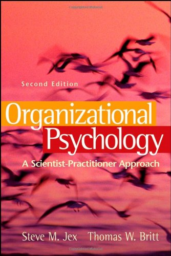 Organizational Psychology A Scientist-Practitioner Approach 2nd 2008 edition cover