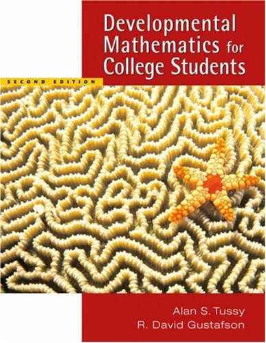 Developmental Mathematics for College Students  2nd 2006 (Revised) 9780534997762 Front Cover