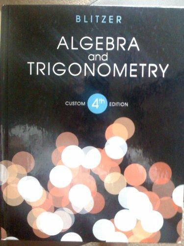 Algebra and Trigonometry  4th edition cover