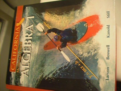 Algebra 1 - California Edition 1st 2007 9780618811762 Front Cover