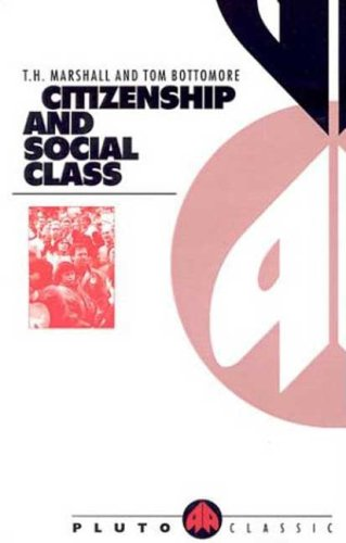 Citizenship and Social Class  1992 edition cover