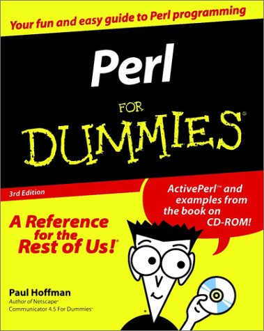 Perl for Dummies  3rd 2001 9780764507762 Front Cover