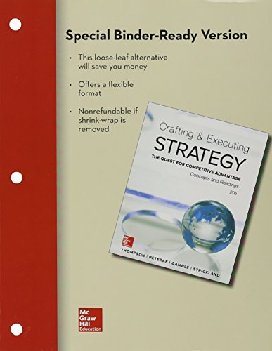Crafting and Executing Strategy Concepts and Readings 20th 2016 edition cover