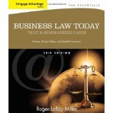 Bundle: Cengage Advantage Books: Business Law Today, the Essentials: Text and Summarized Cases, 10th + CengageNOW with Business Law Digital Video Library 1-Semester Printed Access Card Cengage Advantage Books: Business Law Today, the Essentials: Text and Summarized Cases, 10th + CengageNOW with Business Law Digital Video Library 1-Semester Printed Access Card 10th 9781285490762 Front Cover