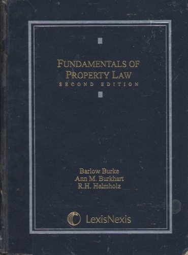 Fundamentals of Property Law 3rd 2010 edition cover