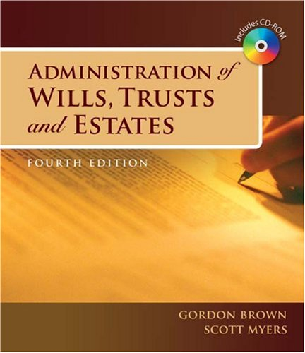 Administration of Wills, Trusts, and Estates  4th 2009 edition cover