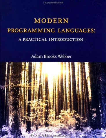 Modern Programming Languages A Practical Introduction  2002 edition cover