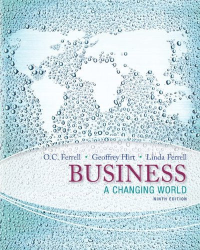 Business: a Changing World with Connect Plus  9th 2014 edition cover