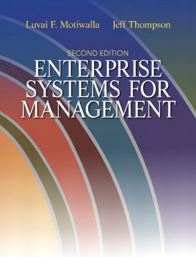Enterprise Systems for Management  2nd 2012 (Revised) edition cover