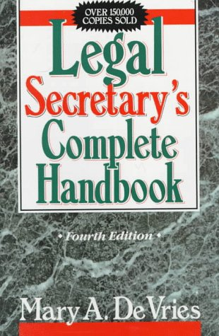 Legal Secretary's Complete Handbook  4th 1992 (Revised) edition cover
