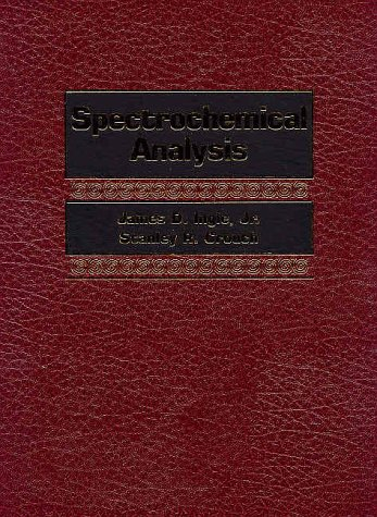 Spectrochemical Analysis  1st 1988 edition cover