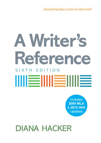 Writer's Reference with 2009 MLA and 2010 APA Updates  6th edition cover