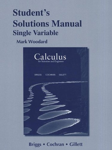 Calculus for Scientists and Engineers   2013 edition cover