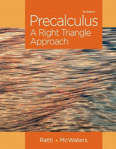 Precalculus A Right Triangle Approach 3rd 2015 edition cover