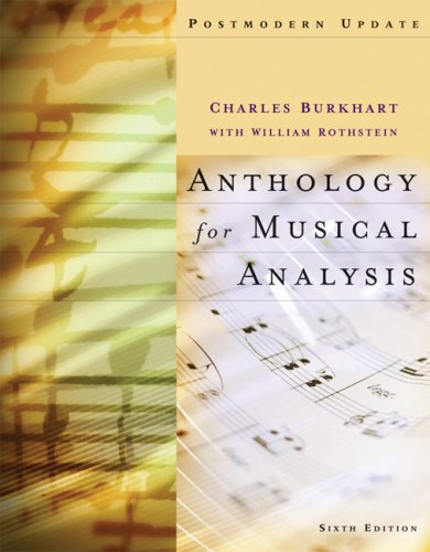 Anthology for Musical Analysis  6th 2008 (Revised) 9780495189763 Front Cover