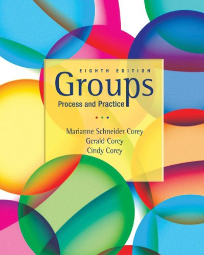 Groups Process and Practice 8th 2010 edition cover
