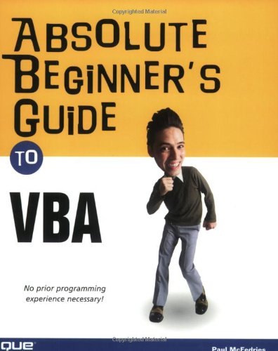 Absolute Beginner's Guide to VBA   2004 edition cover
