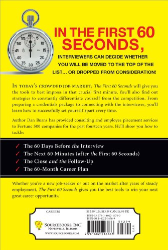 First 60 Seconds Win the Job Interview Before It Begins N/A edition cover