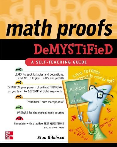 Math Proofs Demystified   2005 9780071445764 Front Cover