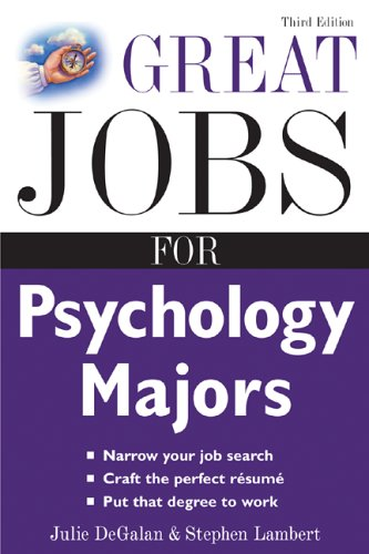 Great Jobs for Psychology Majors  3rd 2006 (Revised) edition cover