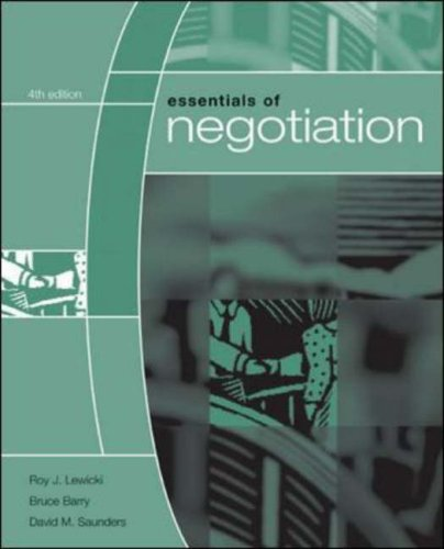 Essentials of Negotiation  4th 2007 (Revised) edition cover
