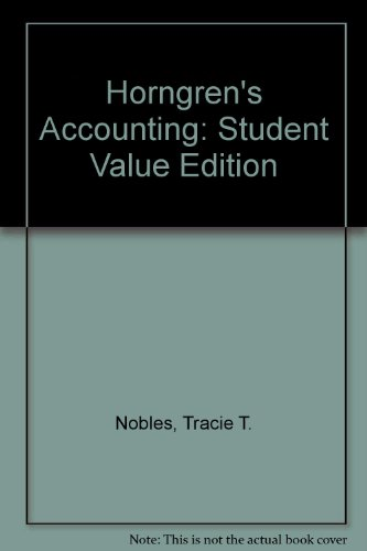 Horngren's Accounting, Student Value Edition  10th 2014 edition cover