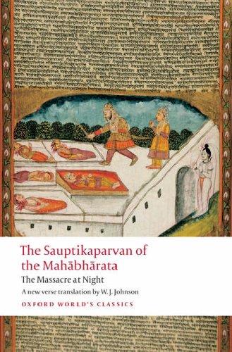 Sauptikaparvan of the Mahabharata The Massacre at Night  2008 edition cover