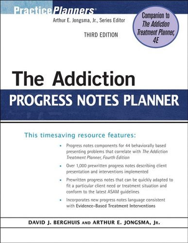 Addiction Progress Notes Planner  3rd 2009 edition cover