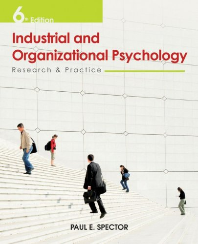 Industrial and Organizational Psychology Research and Practice 6th 2012 edition cover