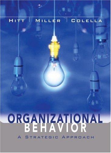 Organizational Behavior A Strategic Approach  2006 edition cover