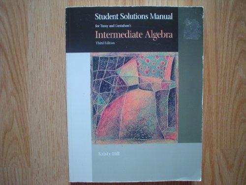 Ssm Intermediate Algebra  3rd 2005 9780534386764 Front Cover