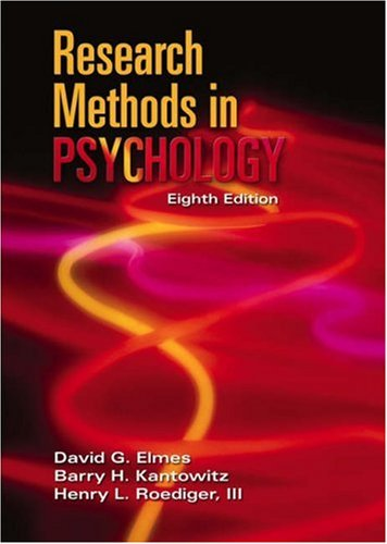 Research Methods in Psychology  8th 2006 9780534609764 Front Cover