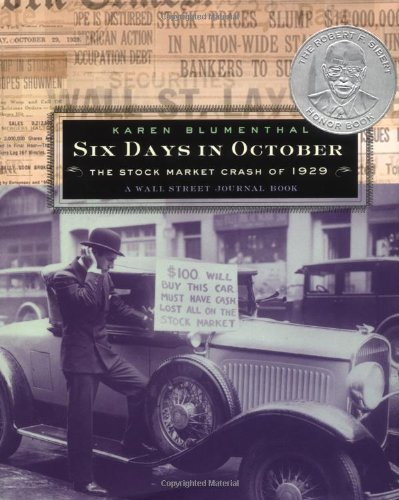 Six Days in October The Stock Market Crash of 1929 - A Wall Street Journal Book  2002 edition cover