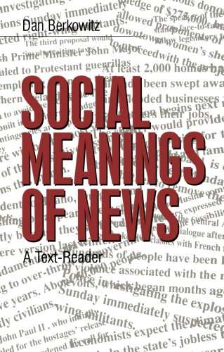 Social Meanings of News A Text-Reader  1997 edition cover