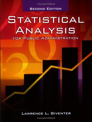 Statistical Analysis for Public Administration  2nd 2008 (Revised) edition cover