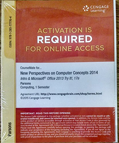 COMPUTER CONCEPTS 2014,INTRO.-ACCESS    N/A 9781285777764 Front Cover