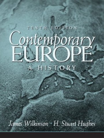 Contemporary Europe A History 10th 2004 edition cover