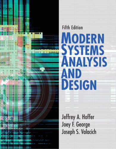 Modern Systems Analysis and Design  5th 2008 edition cover