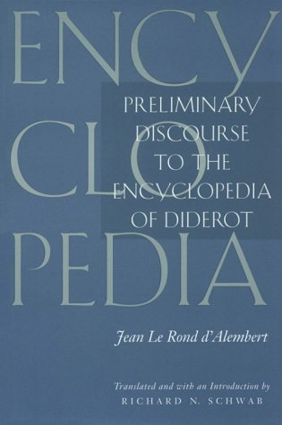 Preliminary Discourse to the Encyclopedia of Diderot   1995 edition cover