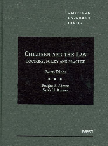 Children and the Law Doctrine, Policy and Practice 4th 2010 (Revised) edition cover