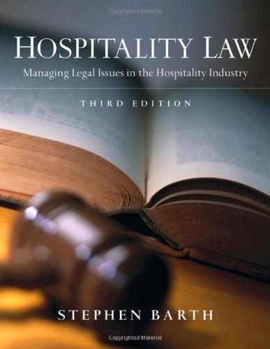 Hospitality Law Managing Legal Issues in the Hospitality Industry 3rd 2009 edition cover
