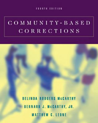 Community-Based Corrections  4th 2001 9780534516765 Front Cover