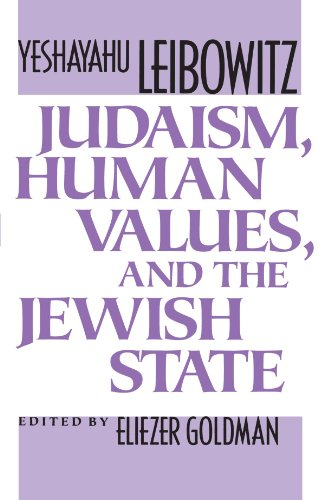 Judaism, Human Values, and the Jewish State   1992 edition cover
