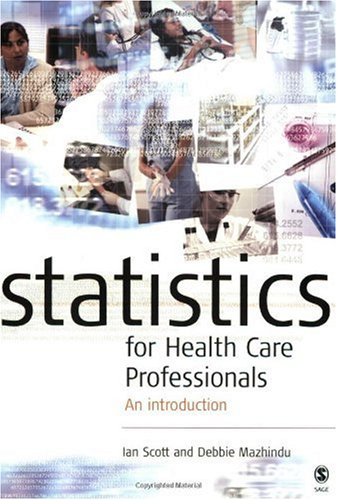 Statistics for Health Care Professionals An Introduction  2005 edition cover