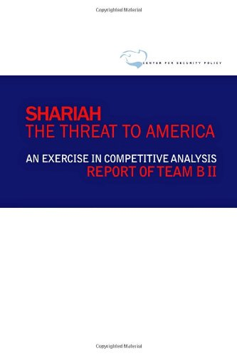 Shariah The Threat to America N/A edition cover