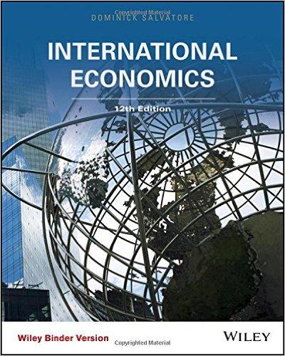 International Economics  12th 2016 9781118955765 Front Cover