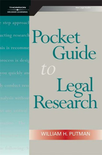 Pocket Guide to Legal Research   2008 edition cover